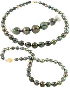 5239: 696874 9/12mm 37 Tahitian pearl circlé necklace
