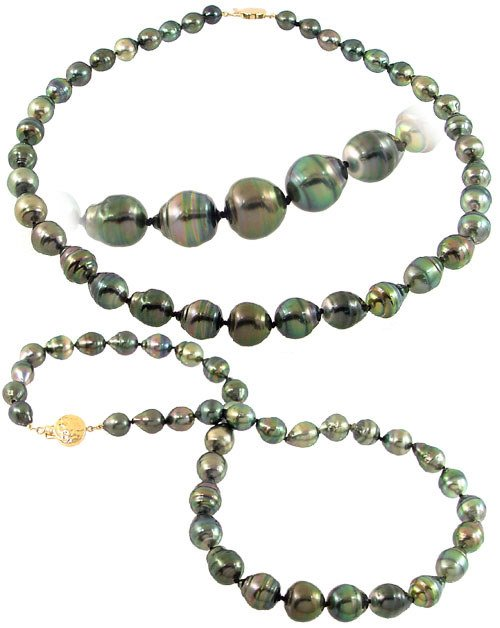 5239: 696874 9/12mm 37 Tahitian pearl circlé necklace