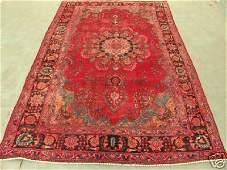5297: 6440s Semi Antique Rugs Persian Mashad Rug 9x6