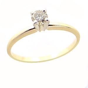 206: 456332 .21ct champaigne diamond solitaire ring