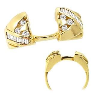 696953 ..20ct diamond enhancer wrap chevron ring