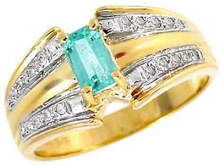 104180 .50ct Columbian Emerald .10 diamond ring
