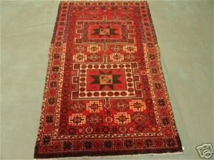 6351s Semi Antique Persian Star Karadjeh Rug 7x4