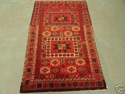 219: 6351s Semi Antique Persian Star Karadjeh Rug 7x4