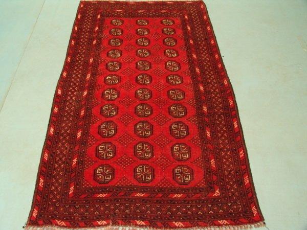 220: 8684 Semi Antique Rugs Turkmon Bokara Rug 6x4