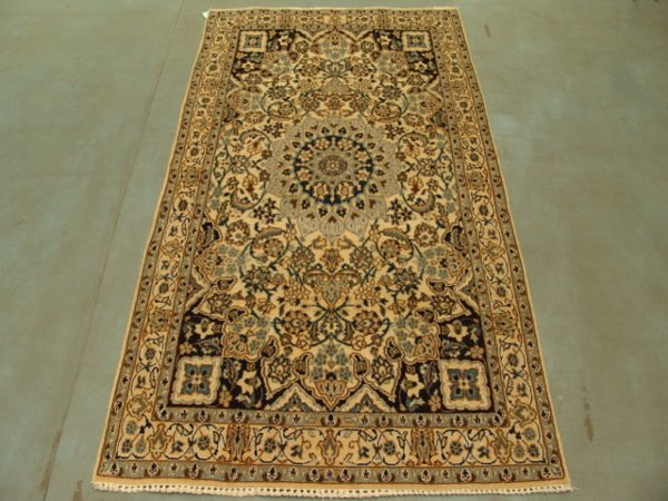 221: 5838s Semi Antique Ruygs Persian Nain Rug 7x4