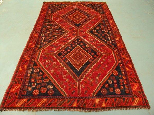 222: 9171 Semi Antique Rugs Persian Qashqai Rug 9x5