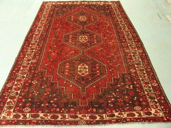 223: 8906 Semi Antique Rugs Persian Qashqai Rug 10x6