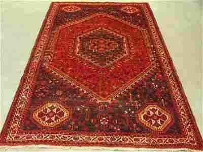250: 5766s Semi Antique Rugs Persian Shiraz Rug 9x6