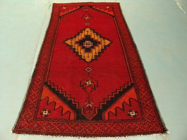 293: 9346 Semi Antique Rugs Persian Hamadan Rug 8x4