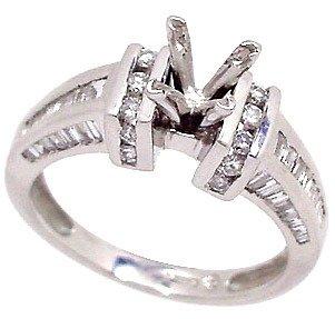 117: PLATINUM .70ct Diamond band ring