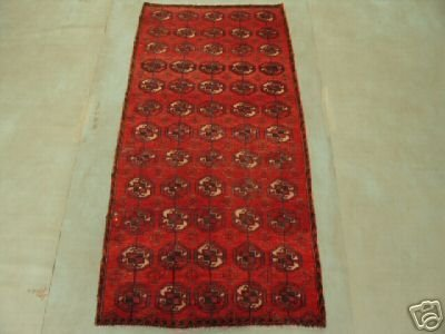 118: 6357s Semi Antique Rugs Afghan Kurdish Rug 6x3