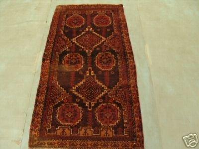 119: 6523s Semi Antique Rugs Afghan Herati Rug 6x3