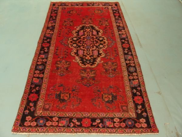 120: 8891 Double Knot Hand Knotted Persian Kashan Rug 7