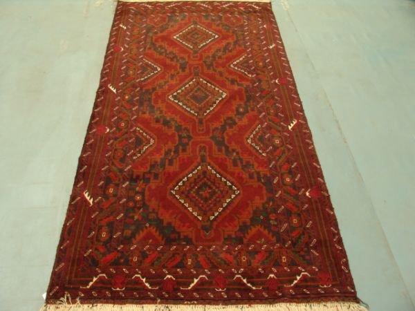 121: 8953 Semi Antique Rugs Afghan Herati Rug 7x4