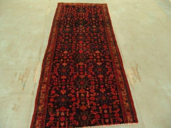 122: 6561s Semi Antique Persian Yamoud Runner Rug 10x3