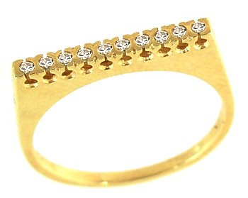 3001: .10cttw diamond square top band ring