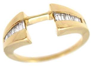 14YG .25cttw Diamond wrap guard ring