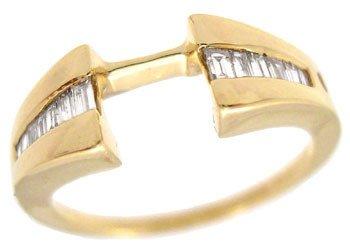 3003: 14YG .25cttw Diamond wrap guard ring