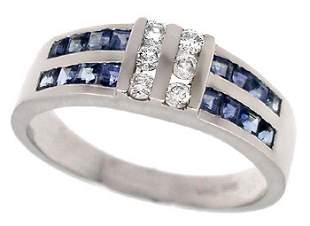 WG .75c sapphire princess chan .13dia ring