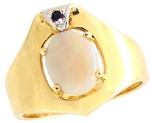 1.10ct opal sapphire foldover wide band ring