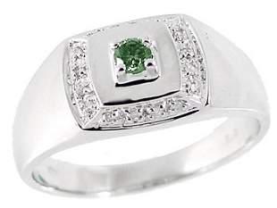 WG .20ct blue white diamond mans ring