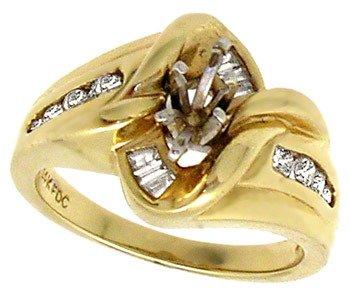 3024: 14YG .40cttw Diamond semi mount ring