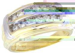 3091: 14YG .50cttw Diamond channel mans ring