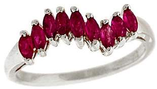 14WG .60ct Marquise Ruby Band ring