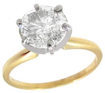 4093: 14KY 1.45ct diamond solitaire ring