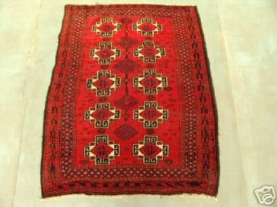 4010: Semi Antique Rugs Persian Saveh Rug 4x3
