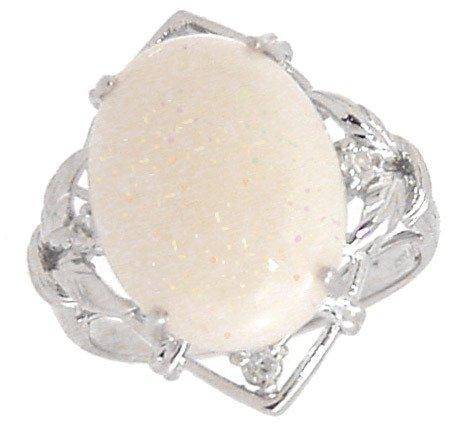 5015: 14KW 4.77ct Austalian Opal .09dia ring