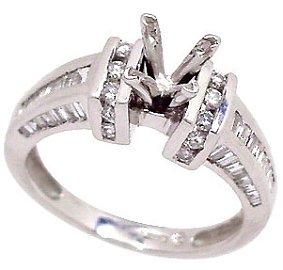 5042: PLATINUM .70ct Diamond band ring
