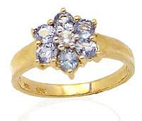 1.15ct Sapphire & white Sapphire flower ring