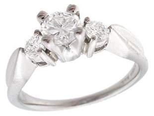 Platinum .50cttw NICE Diamond 3 stone ring