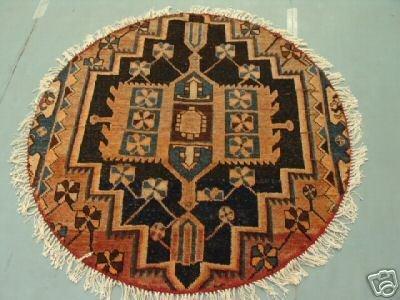 5019: Round Persian Serapi Rug 4x4