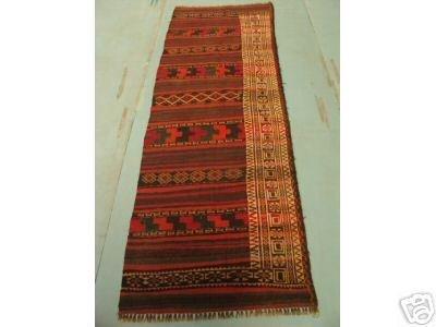 5020: Semi Antique Rugs Persian Kilim Runner Rug 8x3