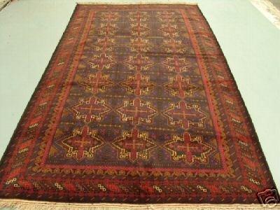 5021: Semi Antique Rugs Afghan Herati Rug 10x6