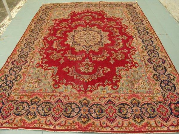5024: Stunning Large Persian Kirman Rug 13x10