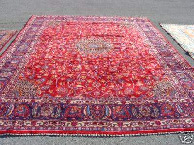 5073: Stunning Large Persian Mashad Rug 12x10