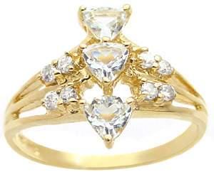 .60cttw aquamarine 3 trillion .16 dia ring