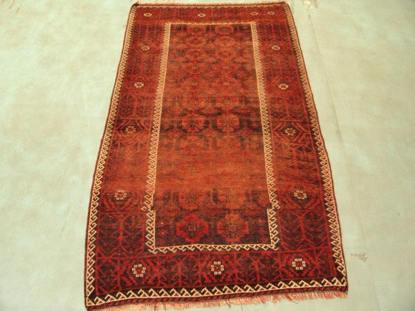22: Semi Antique Rugs Afghan Kurdish Rug 8x4