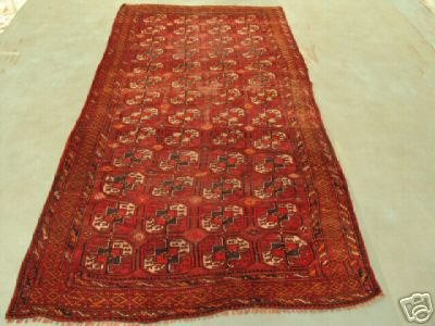 23: SemI Antique Rugs Afghan Kurdish Rug 10x5