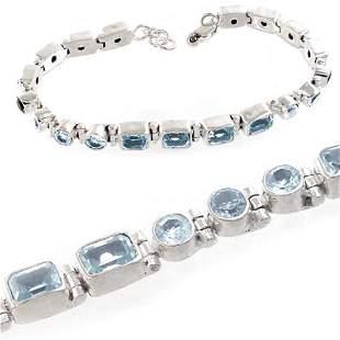 Gift Lot of 3! Silver Genuine Gemstone Bracelets