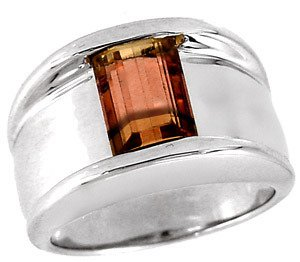 33: WG 3.50ct Pink Tourmaline band ring
