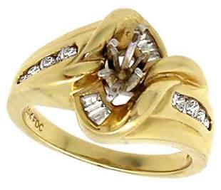 14YG .40cttw Diamond semi mount ring
