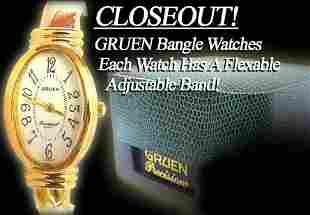 Lady GRUEN PRECISION Adjustable Bangle Watch
