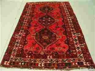 1021:Semi Antique Rugs Persian Qashqai Rug 8x5