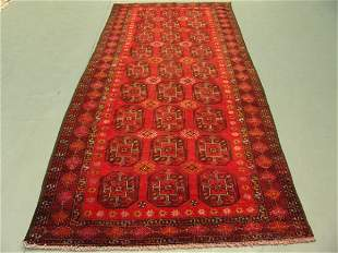 1023:Semi Antique Rugs Afghan Kurdish Rug 10x5