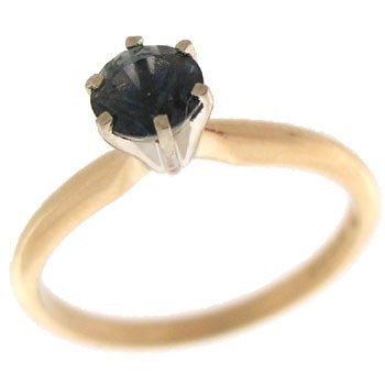 200: 14YG .72ct Color Change Sapphire Solitaire Ring